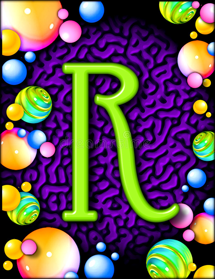 Het alfabet van de partij - R royalty-vrije illustratie