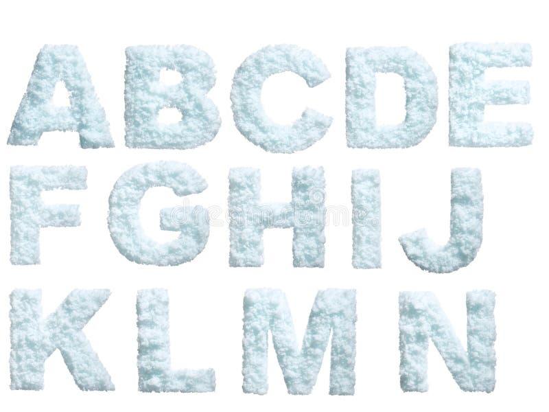 Het alfabet van de sneeuw stock illustratie