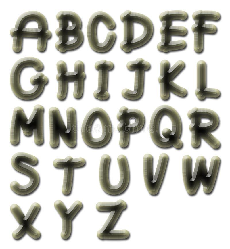 Het alfabet van de vuursteen royalty-vrije illustratie