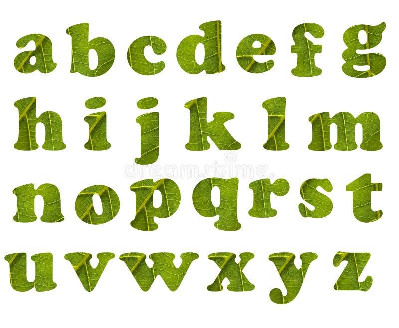 Het alfabet van Eco stock illustratie