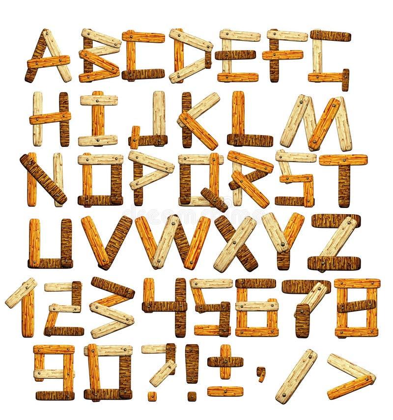 Het alfabet van het bamboe royalty-vrije illustratie