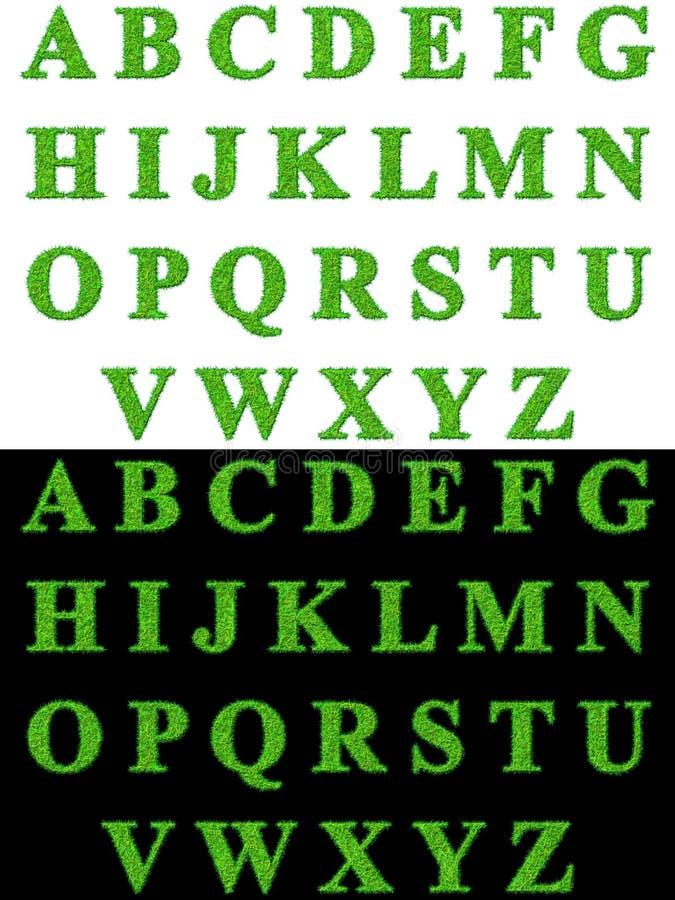 Het alfabet van het gras   stock foto's