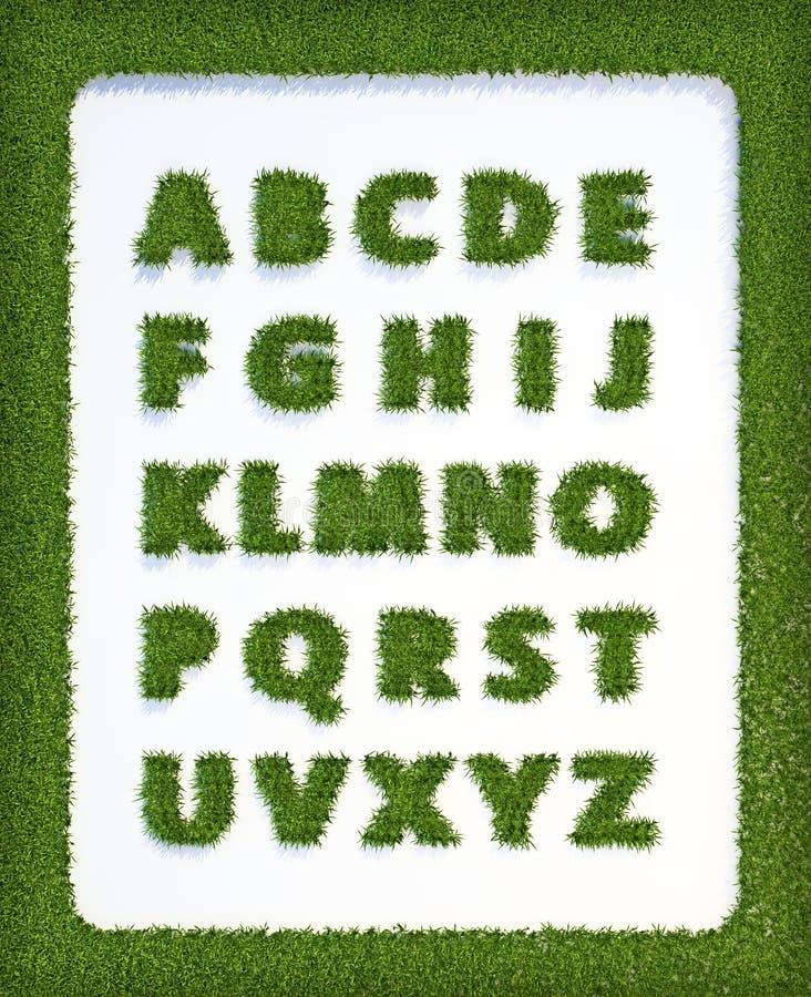 Het alfabet van het gras vector illustratie