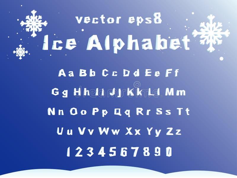 Het alfabet van het ijs royalty-vrije illustratie
