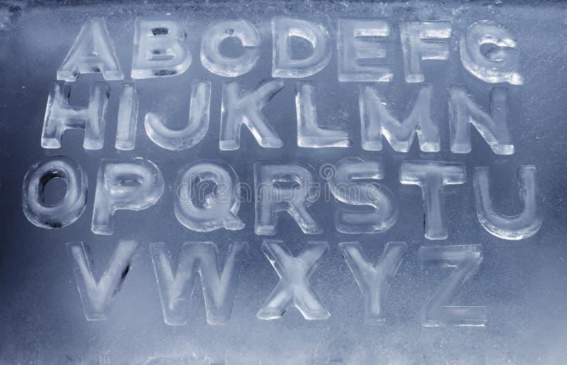 Het Alfabet van het ijs royalty-vrije stock foto's
