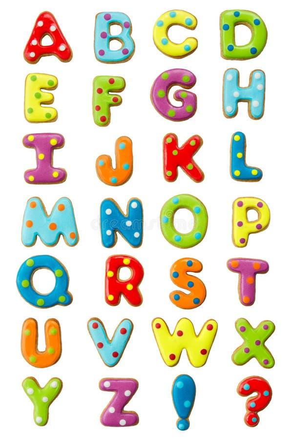 Het alfabet van het koekje