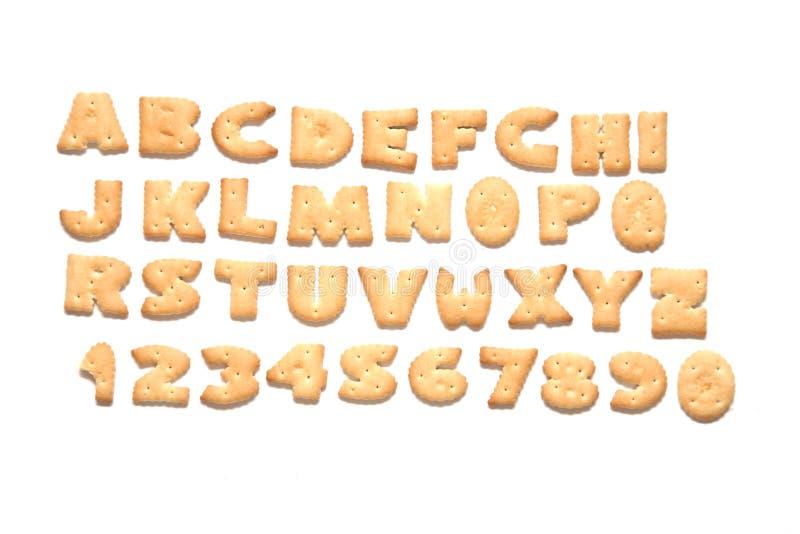 Het alfabet van het koekje stock fotografie