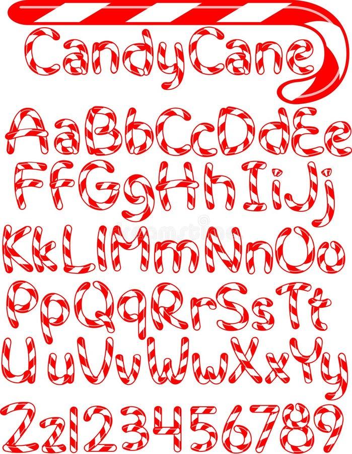 Het Alfabet van het Riet van het suikergoed royalty-vrije illustratie