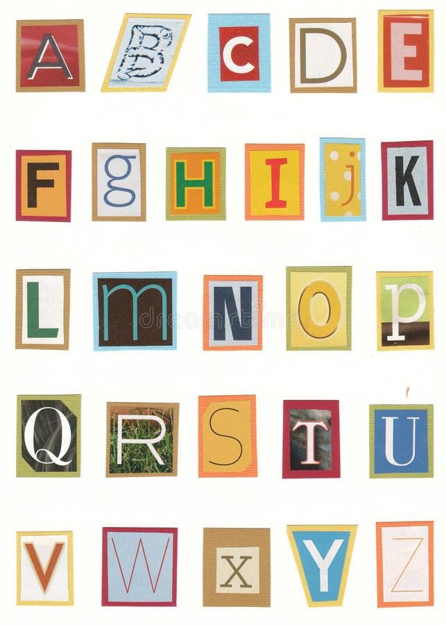 Het alfabet van het tijdschrift royalty-vrije stock afbeelding