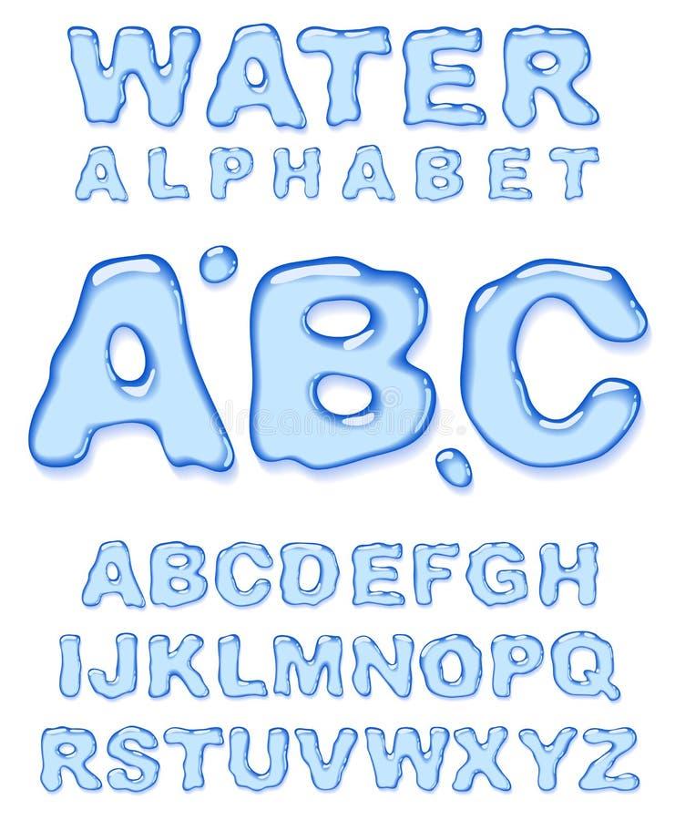 Het alfabet van het water. royalty-vrije illustratie