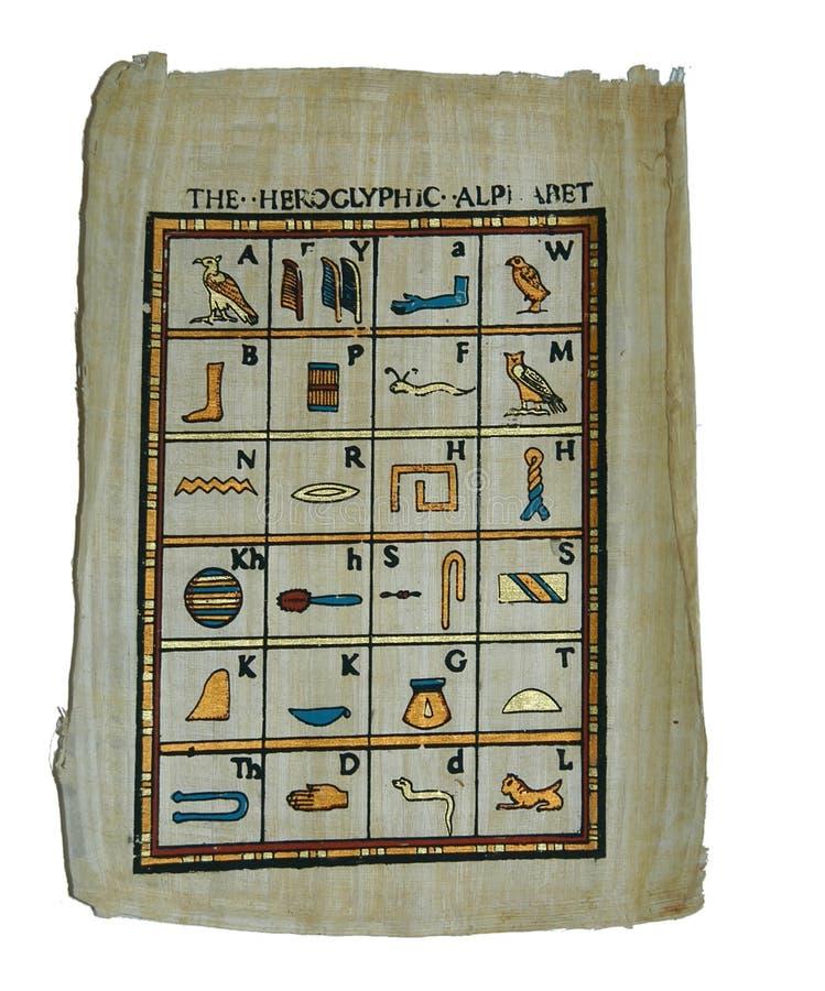 Het alfabet van Hieoglyphic royalty-vrije stock foto