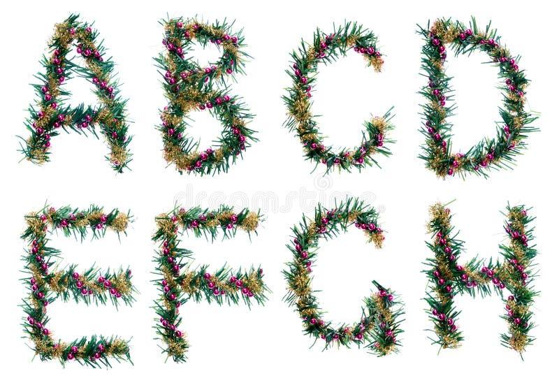 Het alfabet van Kerstmis - brieven royalty-vrije stock fotografie