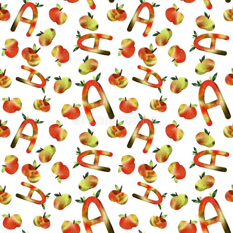 Het alfabetbrief van kinderen vector illustratie