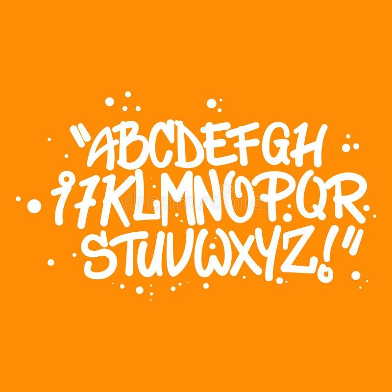 Het alfabetbrieven van de graffitistijl stock illustratie