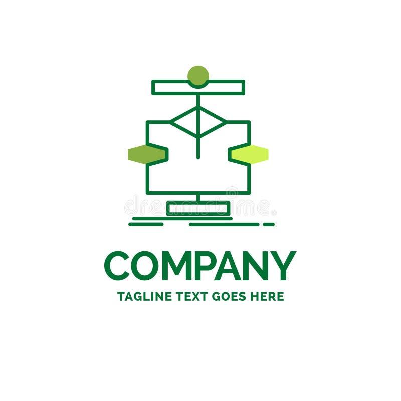 Het algoritme, grafiek, gegevens, diagram, stroomt Vlak Bedrijfsembleem templat royalty-vrije illustratie