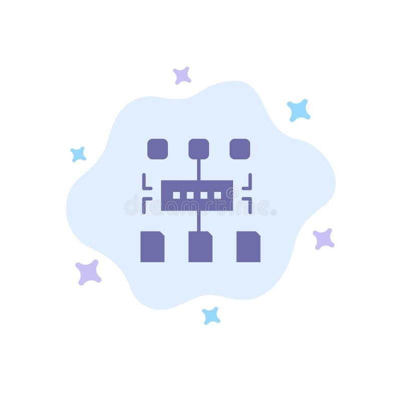 Het algoritme, Programma, Gebruiker, documenteert Blauw Pictogram op Abstracte Wolkenachtergrond royalty-vrije illustratie