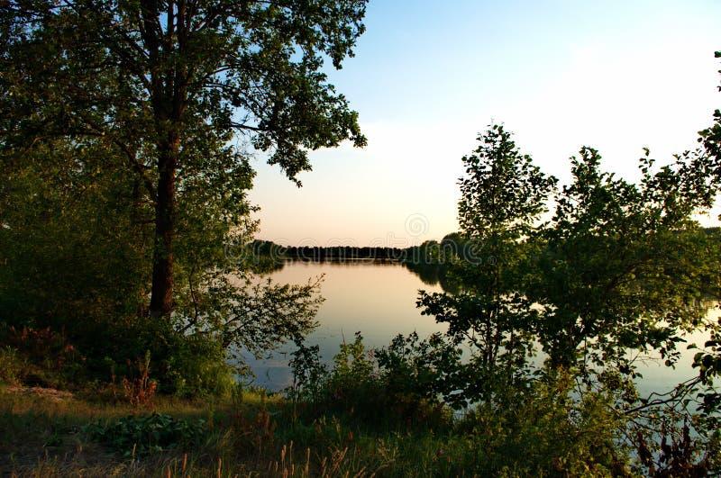 In het alluviale gebied van de Klyazma-rivier royalty-vrije stock fotografie