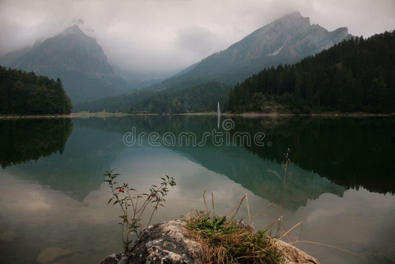 Het Alpiene landschap van de herfst royalty-vrije stock afbeelding