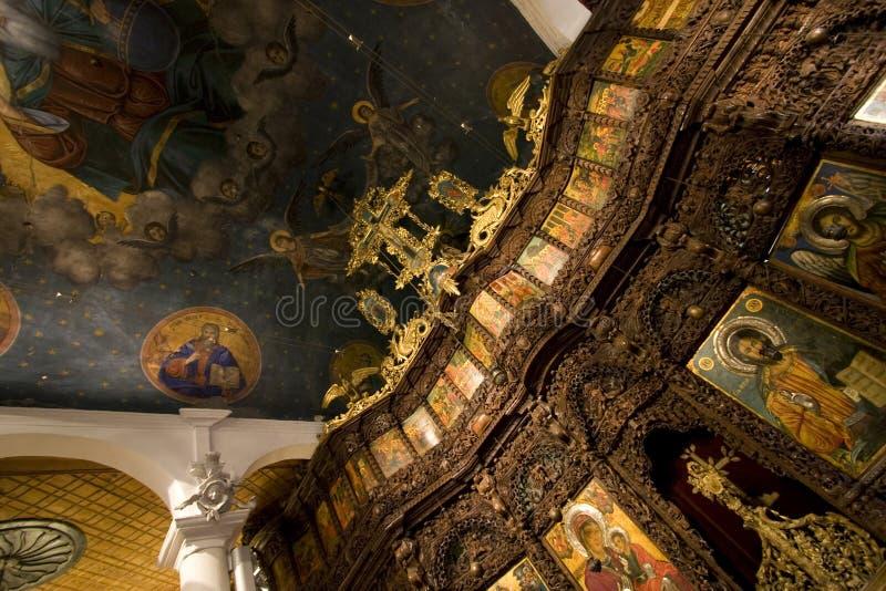 Het Altaar van de Kerk van de Kuuroorden van heilige stock foto's