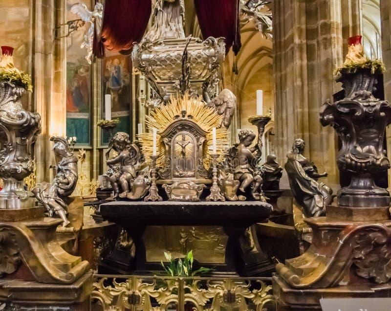 Het altaar van heilige Vitus Cathedral royalty-vrije stock fotografie