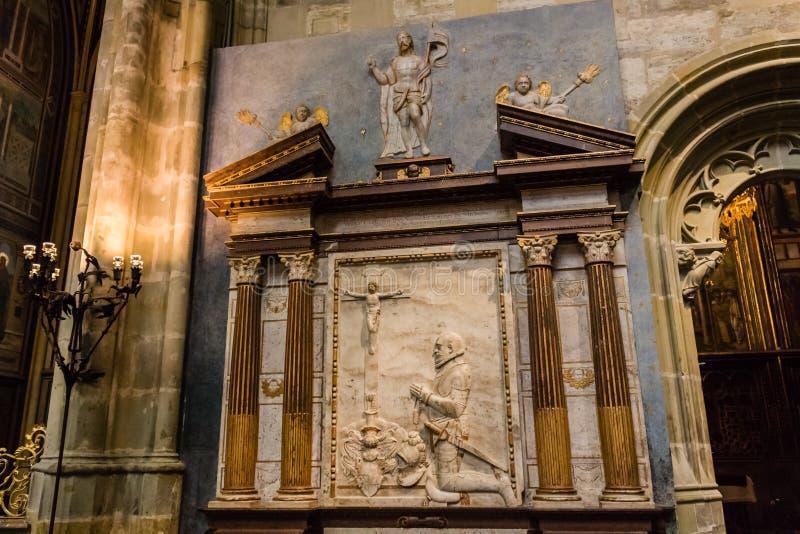 Het altaar van heilige Vitus Cathedral royalty-vrije stock afbeelding