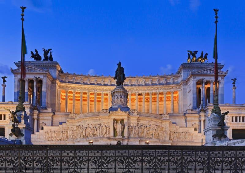 Het Altaar van Rome sluit zonsopgang stock afbeeldingen