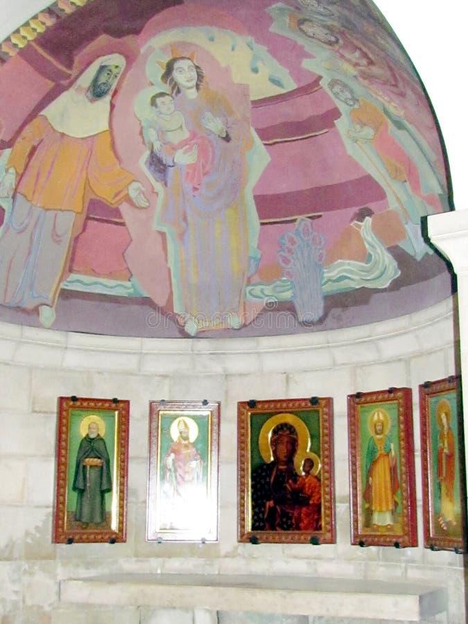 Het altaar Venezuela 2012 van Jeruzalem Dormition Abbey Crypt royalty-vrije stock foto's