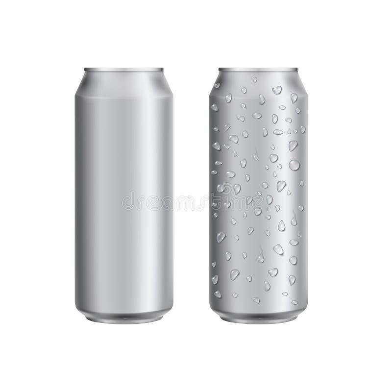 Het aluminium kan drinken soad of biermalplaatje vector illustratie