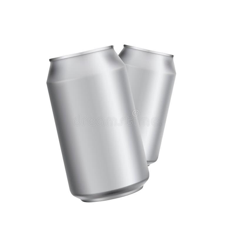 Het aluminium kan drinken soad of biermalplaatje stock foto's