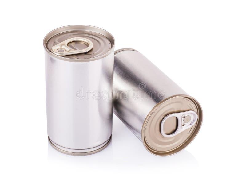 Het aluminium kan op een witte achtergrond royalty-vrije stock foto