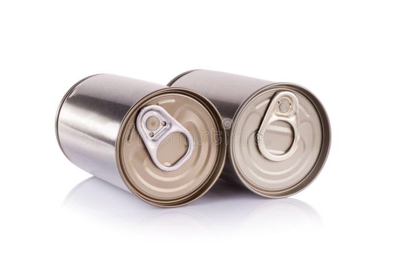 Het aluminium kan op witte achtergrond royalty-vrije stock foto