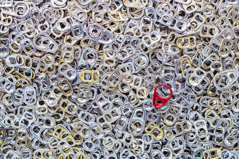 Het aluminium van de ringstrekkracht van blikken stock foto