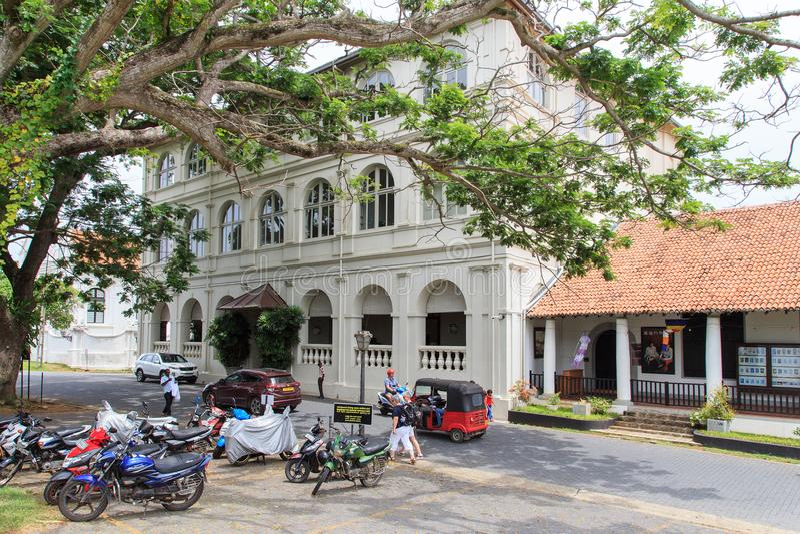 Het Amangalla-Hotel formeel als het Nieuwe Oosterse Hotel - Fort Galle wordt bekend - Sri Lanka dat royalty-vrije stock fotografie