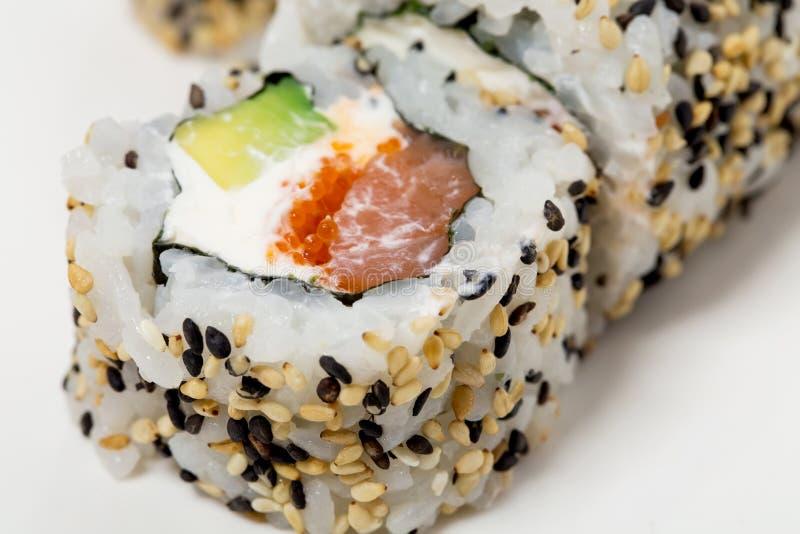 Het Amerikaanse broodje van sushialaska royalty-vrije stock fotografie