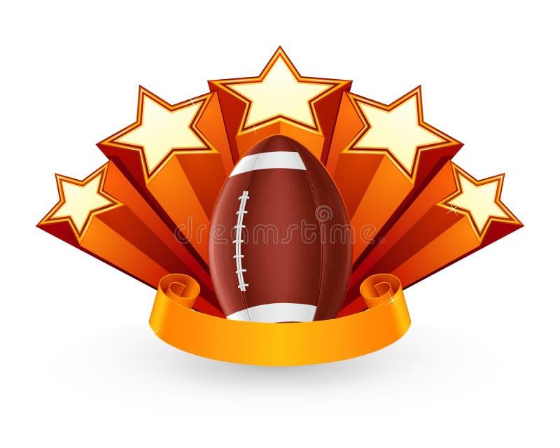 Het Amerikaanse Embleem van de Voetbal vector illustratie