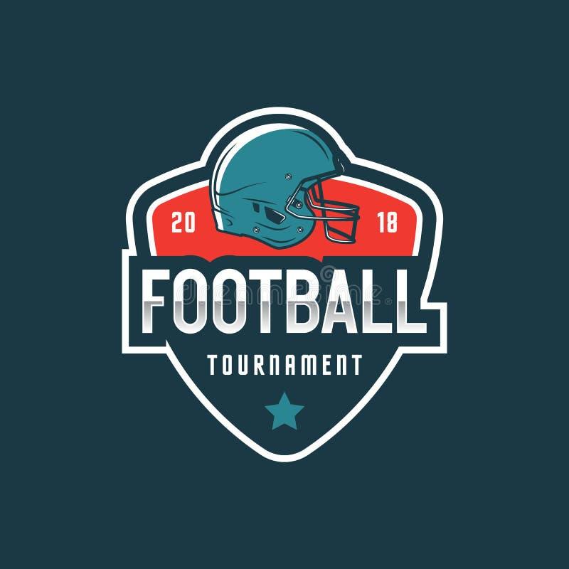 Het Amerikaanse Embleem van de Voetbal sportembleem, kenteken Vector illustratie royalty-vrije illustratie