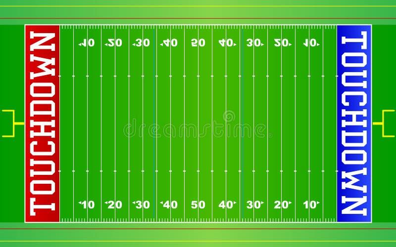 Het Amerikaanse Gebied NFL van de Voetbal royalty-vrije illustratie