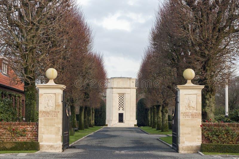 Het Amerikaanse gebied van begraafplaatsvlaanderen België Waregem WW1 stock foto