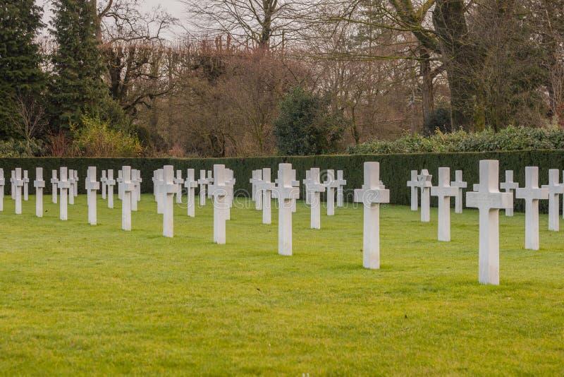 Het Amerikaanse gebied van begraafplaatsvlaanderen België Waregem WW1 stock afbeelding