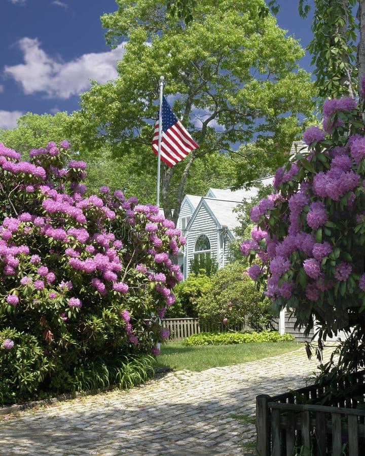 Het Amerikaanse huis royalty-vrije stock fotografie