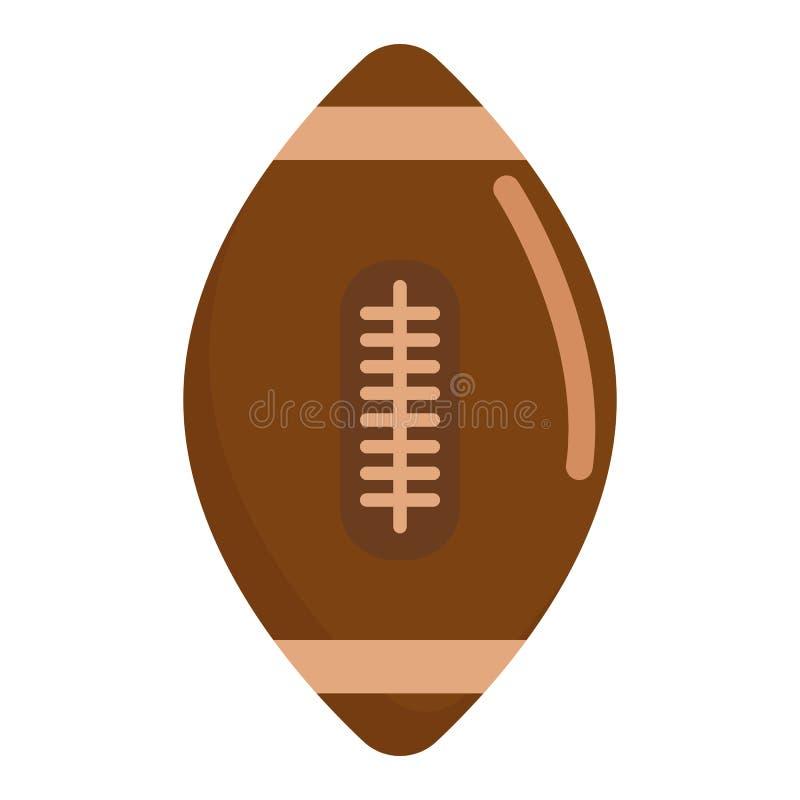 Het Amerikaanse pictogram van de voetbalbal, vectorillustratie royalty-vrije illustratie