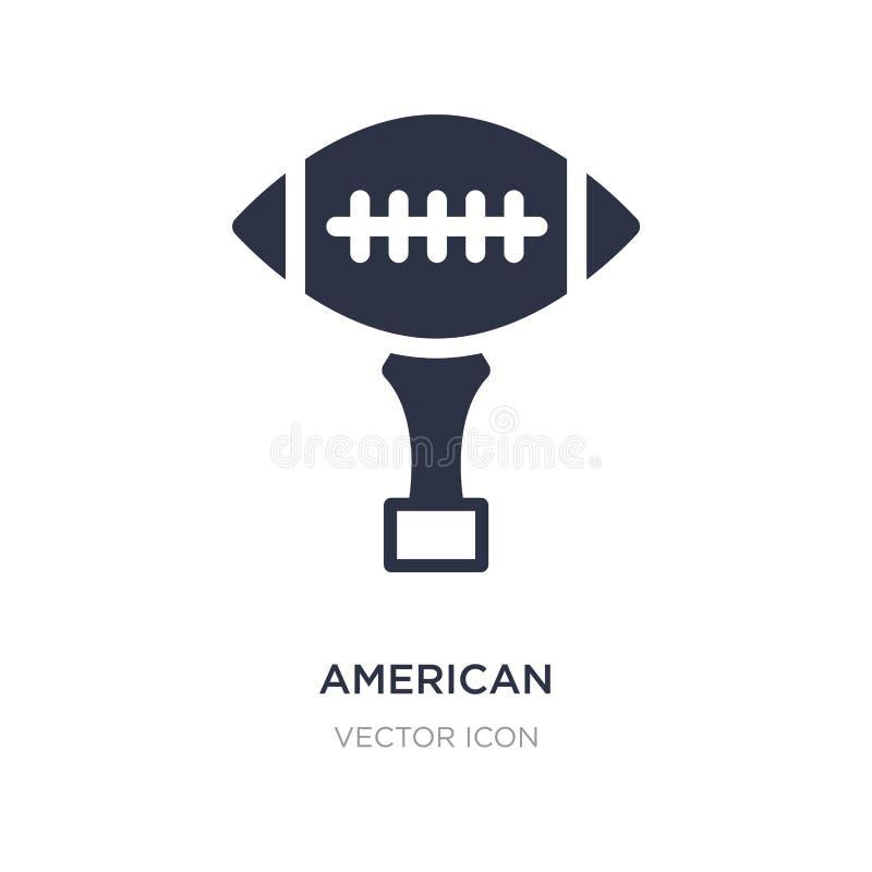 het Amerikaanse pictogram van voetbaltrophey op witte achtergrond Eenvoudige elementenillustratie van Amerikaans voetbalconcept vector illustratie