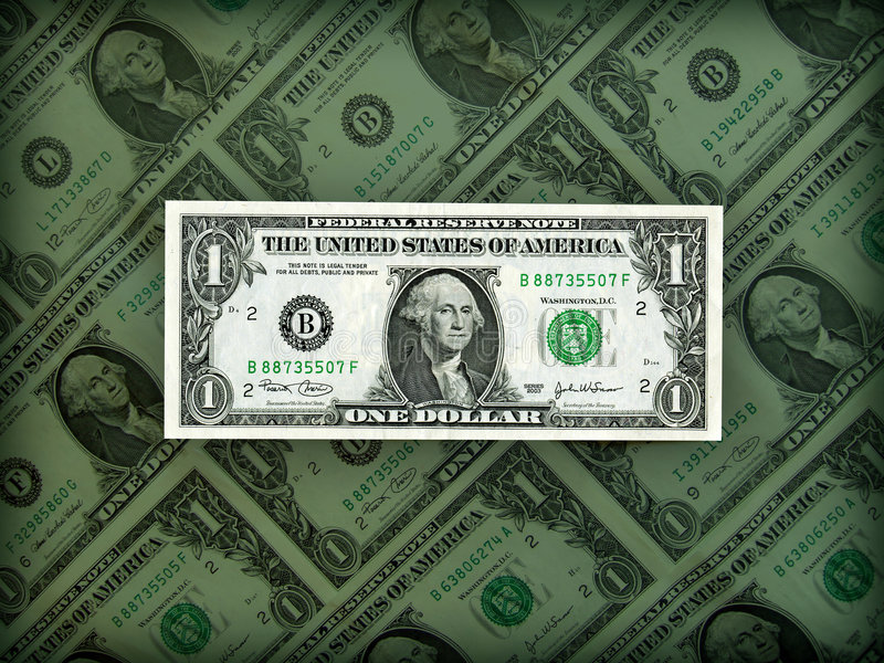 Het Amerikaanse Prestige Van De Dollar In Duidelijke Positie Royalty-vrije Stock Afbeelding