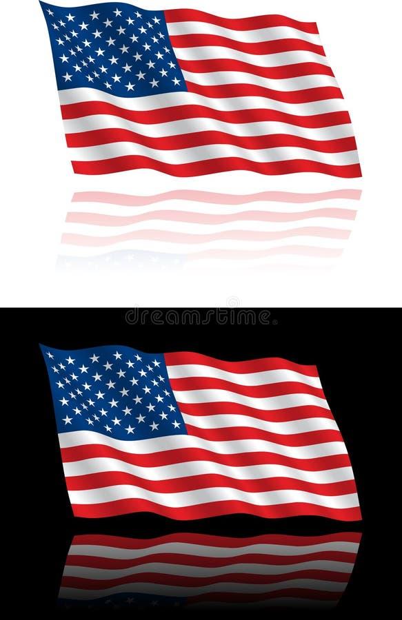 Het Amerikaanse Stromen van de Vlag royalty-vrije stock foto's