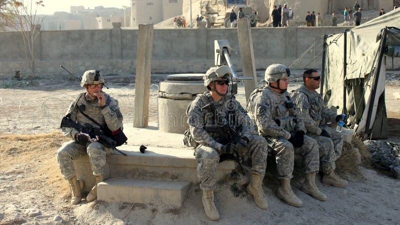Het Amerikaanse troepen rusten stock afbeelding
