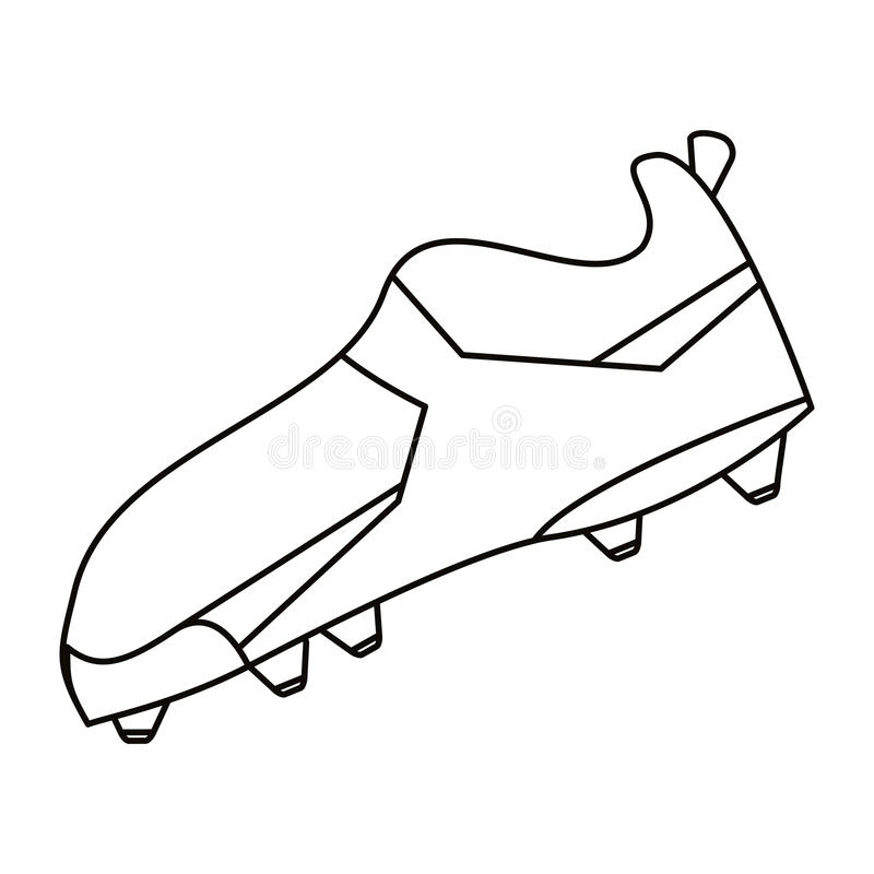 Het Amerikaanse vastgespijkerde overzicht van de voetballaars schoenen royalty-vrije illustratie