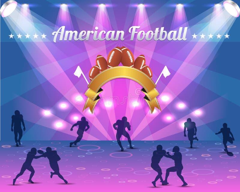 Het Amerikaanse VectorOntwerp Van Het Schild Van De Voetbal Stock Foto