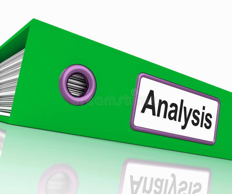 Het analysedossier bevat Gegevens en het Analyseren van Documenten vector illustratie