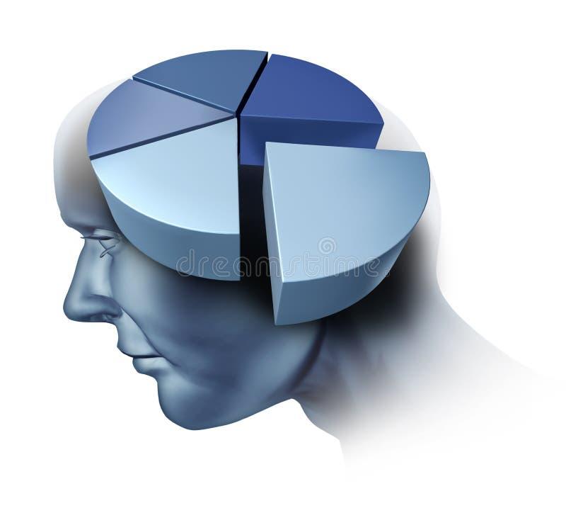 Het analyseren van de Menselijke Hersenen royalty-vrije illustratie