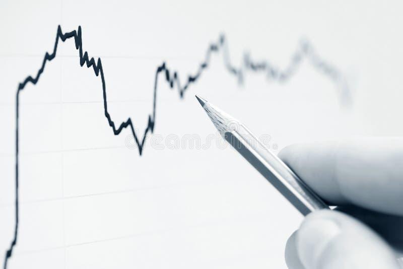 Het analyseren van financiële gegevens royalty-vrije stock foto's